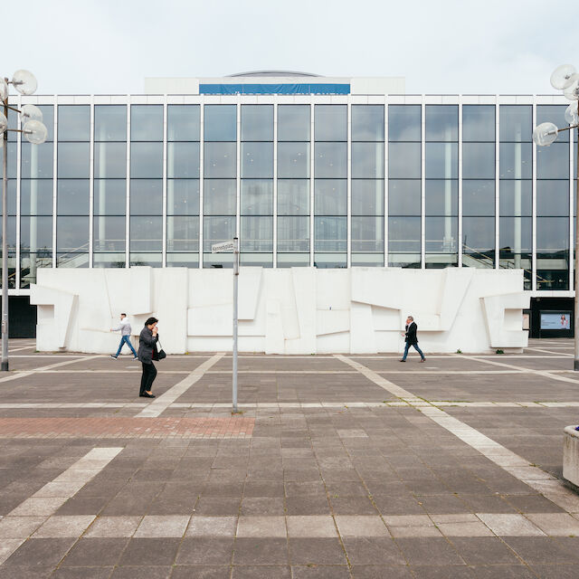 """Ausstellungsort von """"70 Jahre Kunst am Bau in Deutschland"""": das Musiktheater im Revier in Gelsenkirchen."""