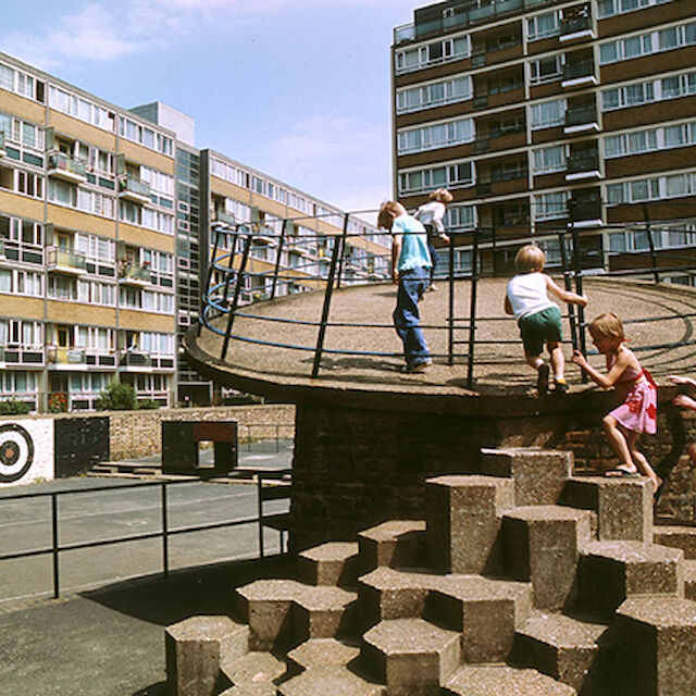 Churchill Gardens Estate, Pimlico London, 1978.